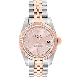 Rolex Datejust Steel Everose Gold Ladies Watch 179171 Box Papers