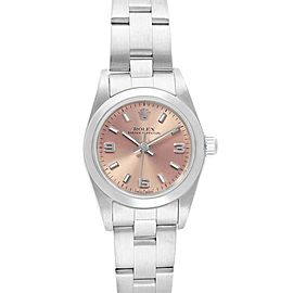 Rolex Oyster Perpetual 24mm Nondate Salmon Dial Ladies Watch 76080