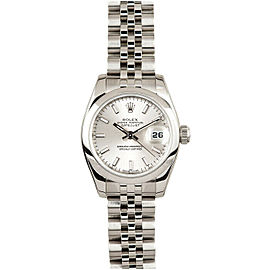 Rolex Datejust 26mm 179160 Women's Silver Index Steel 26mm 1 Year Warranty