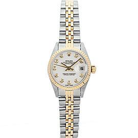 Rolex Datejust 26mm 69173 Women's White Diamond Yellow Gold 26mm 1 Year Warranty