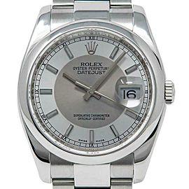 Rolex Datejust 36mm 116200 Unisex Silver Tuxedo Steel 36mm 1 Year Warranty