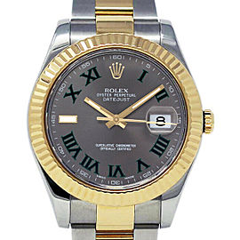 Rolex Datejust II 116333 Men's Yellow Gold 41mm Automatic 1 Year Warranty