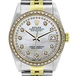 Rolex Datejust 16233 Unisex White Diamond Gold 36mm 1 Year Warranty