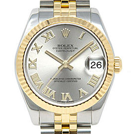 Rolex Datejust 31mm 178273 Women's Silver Roman Yellow Gold 31mm 1 Year Warranty