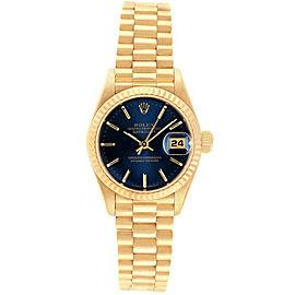 Rolex Datejust 26mm 69178 Women's Blue Index Yellow Gold 26mm 1 Year Warranty