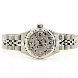 Rolex Datejust 26mm 6916 Women's Silver White Gold 26mm 1 Year Warranty