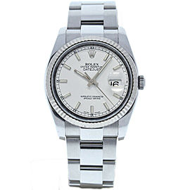 Rolex Datejust 36mm 116234 Unisex White Index White Gold 36mm 1 Year Warranty