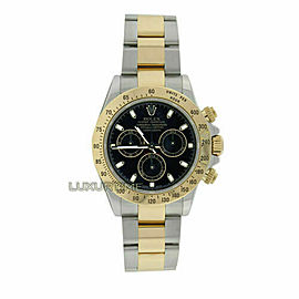 Rolex Daytona 116523 Men's Yellow Gold 40mm Automatic 1 Year Warranty