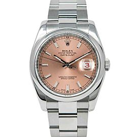 Rolex Datejust 36mm 116200 Unisex Salmon Index Steel 36mm 1 Year Warranty