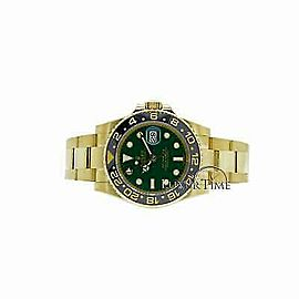 Rolex GMT Master II 116718 Men's Yellow Gold 40mm Automatic 1 Year Warranty