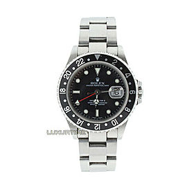 Rolex GMT Master II 16710 Men's Black Stainless Steel 40mm 1 Year Warranty