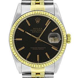 Rolex Datejust 36mm 16233 Unisex Black Index Yellow Gold 36mm 1 Year Warranty