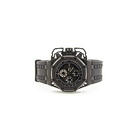 Audemars Piguet Royal Oak 26165IO.OO.A002CA.01 Men's Black Fixed 42mm 1YearWty