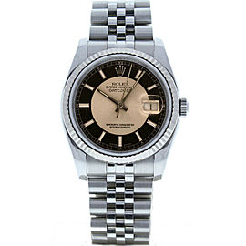 Rolex Datejust 36mm 116234 Unisex Black Tuxedo White Gold 36mm 1 Year Warranty