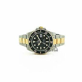 Rolex Submariner 116613 Men's Black Yellow Gold 40mm Automatic 1 Year Warranty
