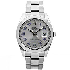 Rolex Datejust II 116300 Men's Silver Arabic Steel 41mm 1 Year Warranty