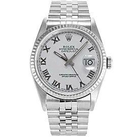 Rolex Datejust 36mm 16234 Unisex White Roman White Gold 36mm 1 Year Warranty