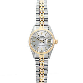 Rolex Datejust 26mm 6917 Women's Silver Index Yellow Gold 26mm 1 Year Warranty