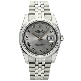 Rolex Datejust 36mm 116200 Unisex Silver Roman Steel 36mm 1 Year Warranty