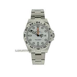 Rolex Explorer II 216570 Men's Stainless Steel 42mm Automatic 1 Year Warranty