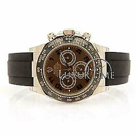 Rolex Daytona 116515 Men's Chocolate Yellow Gold 40mm Automatic 1 Year Warranty