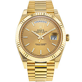 Rolex Day-Date II 228238 Men's Champagne Yellow Gold 40mm 1 Year Warranty