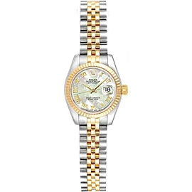 Rolex Datejust 26mm 179173 Women's White MOP Yellow Gold 26mm 1 Year Warranty