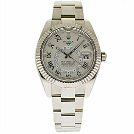 Rolex Sky-Dweller 326939 Men's Silver White Gold 42mm Automatic 1 Year Warranty
