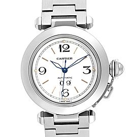 Cartier Pasha C Midsize 35mm Big Date Automatic Steel Watch W31044M7