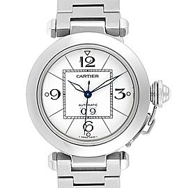 Cartier Pasha C Midsize 35 Large Date Steel Unisex Watch W31044M7