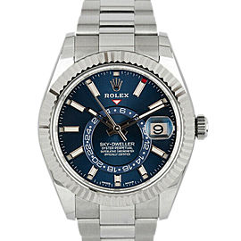 Rolex 326934 Sky-Dweller Men's Stainless Steel Blue 1 Year Warranty