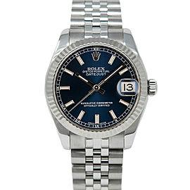 Rolex 178274 Datejust 31mm Women's Stainless Steel Blue 1 Year Warranty