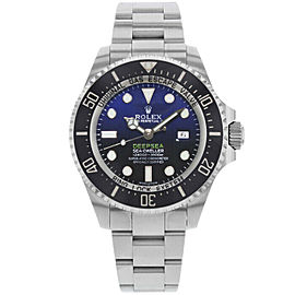 Rolex 116660 Sea-Dweller Men's Stainless Steel Black & Blue 1 Year Warranty