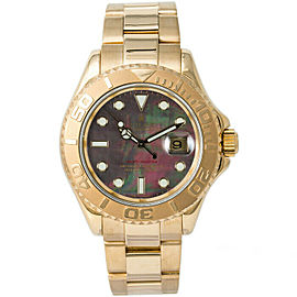 Rolex 16628 Yacht-Master Men's Yellow Gold Mother of Pearl 1 Year Warranty