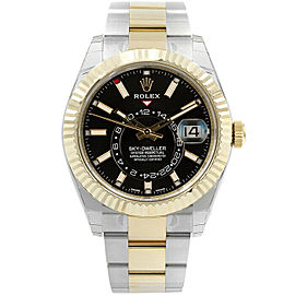Rolex 326933 Sky-Dweller Men's Stainless Steel Black 1 Year Warranty