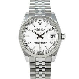 Rolex 178274 Datejust 31mm Women's Stainless Steel White 1 Year Warranty