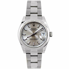 Rolex Datejust 31mm 178240 Women's Stainless Steel Automatic Silver 1YrWarranty