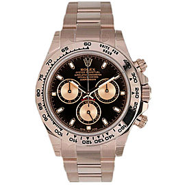 Rolex Daytona 116505 Men's Rose Gold Automatic Black 1 Year Warranty