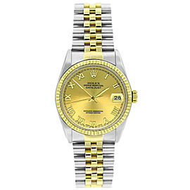 Rolex Datejust 36mm 16233 Women's Stainless Steel Automatic Champage 1YrWarranty