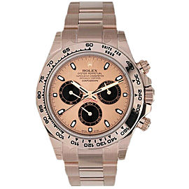 Rolex Daytona 116505 Men's Rose Gold Automatic Pink 1 Year Warranty