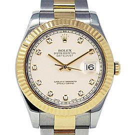 Rolex Datejust II 116333 Men's Stainless Steel Automatic Cream 1 Year Warranty