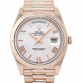 Rolex Day-Date 40mm 228235 Men's Rose Gold Automatic Cream 1 Year Warranty