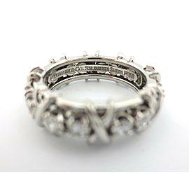 Tiffany & Co Platinum Jean Schlumberger 16 Stone Diamond Ring Size 6 1.14CT