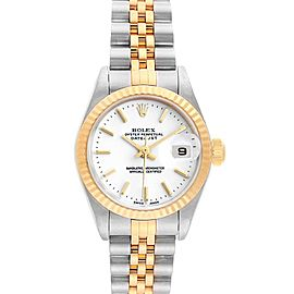Rolex Datejust Steel Yellow Gold White Dial Ladies Watch 79173 Box Papers