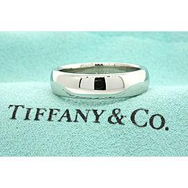 Tiffany & Co Platinum Classic Lucida Wedding Band Ring 6mm Size 7 US