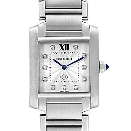 Cartier Tank Francaise Midsize Diamond Ladies Watch W51011Q3 Box Papers