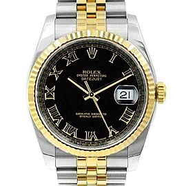 Rolex Datejust 36mm 116233 Unisex Stainless Steel Automatic Black 1YrWarranty