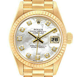 Rolex Datejust 26mm 69178 Women's Yellow Gold Automatic White MOP 1YrWarranty