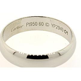 Cartier Platinum Wedding Band Ring size 60 US 9.5 5mm Classic Plain