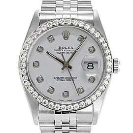 Rolex Datejust 36mm 16234 Unisex Stainless Steel Automatic White 1 Year Warranty